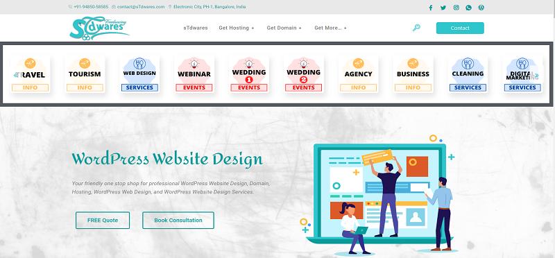 sTdwares Freelancing Venture - DEMO Custom Blog Design